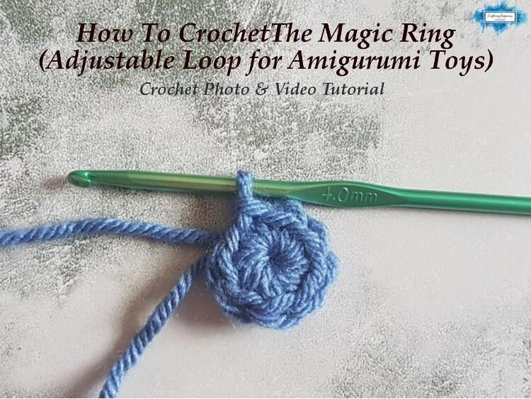 How To Crochet The Magic Ring (Adjustable Loop for Amigurumi