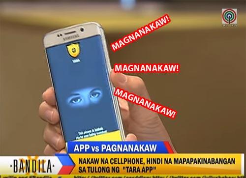 TARA app vs Magnanakaw phone theif