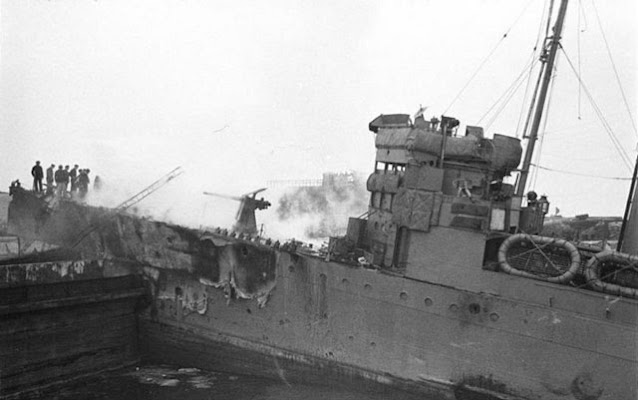 HMS Campbelltown at St. Nazaire, 28 March 1942 worldwartwo.filminspector.com