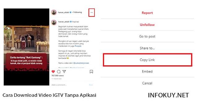 Cara Copy Link IGTV di PC #2