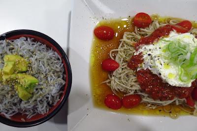 Healthy Soba IKI, burrata cheese soba