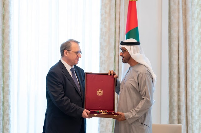 Mohamed bin Zayed receives Russian Foreign Minister