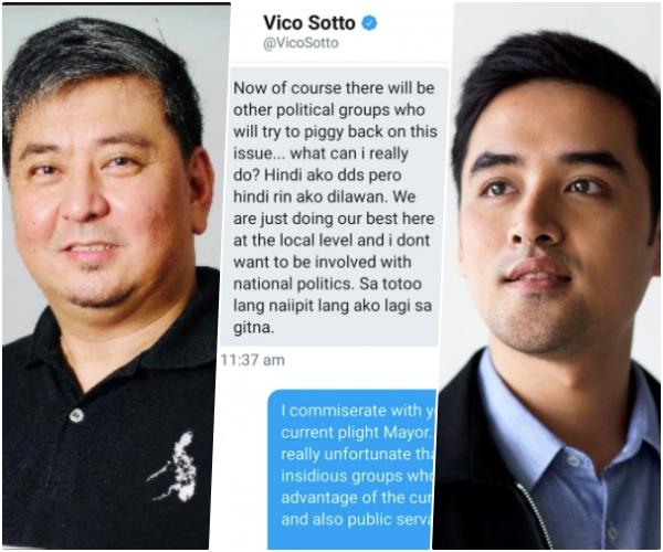DDS o Dilawan? Mayor Vico, nilinaw kung saan siya pumapanig