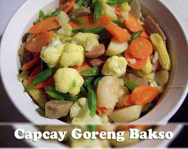 resep capcay goreng bakso
