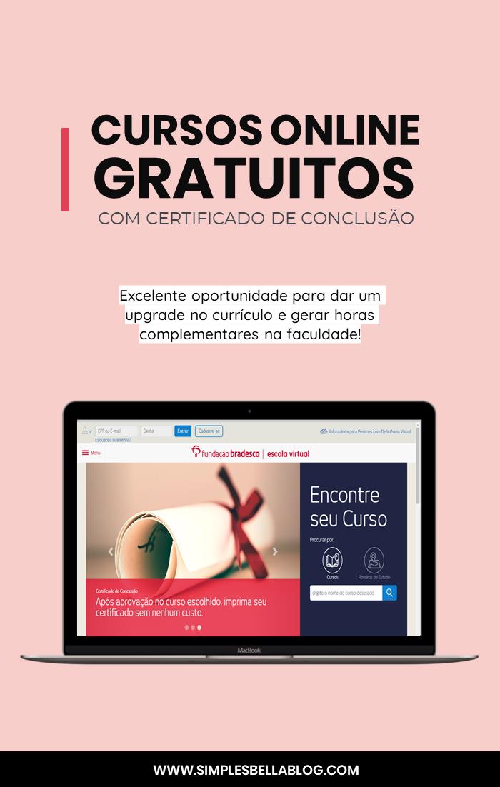 16 cursos online gratuitos com certificado de conclusão