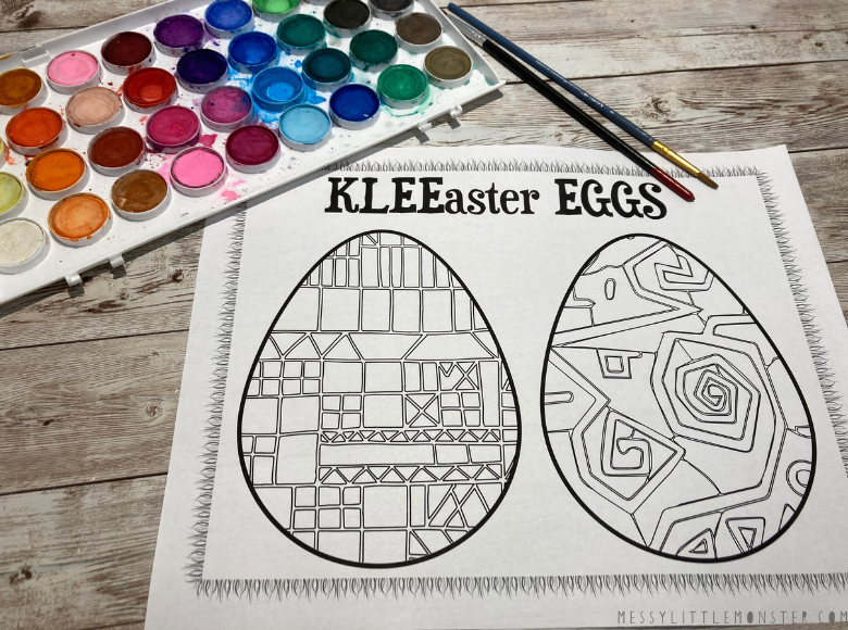Easter egg template to print