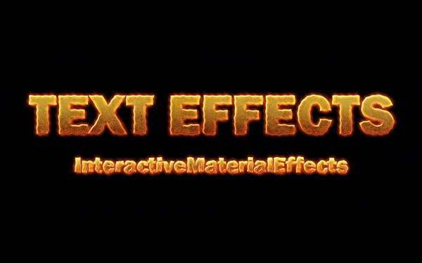 Create Cool Text Effects Using Free Photoshop Extension InteractiveMaterialEffects