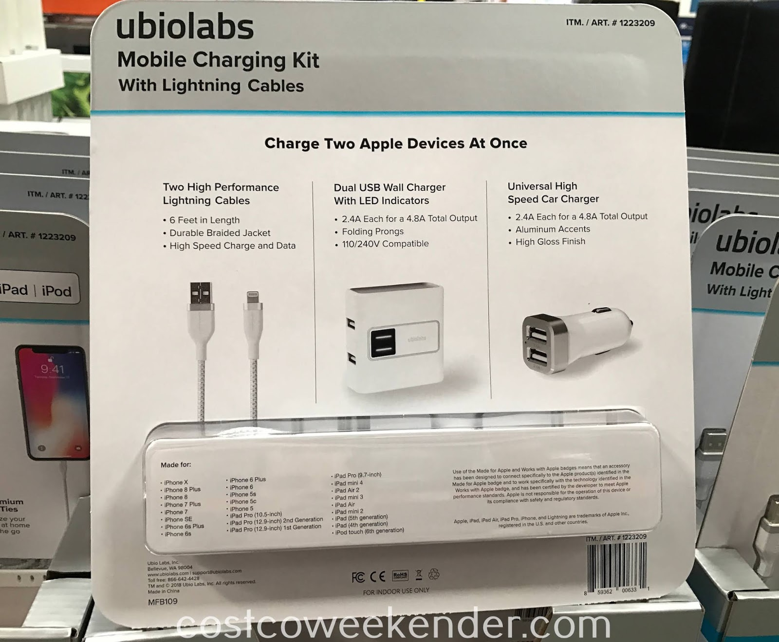 Costco 1223209 - Ubio Labs Mobile Charging Kit: you can never have too many power cables for your Apple iPhone
