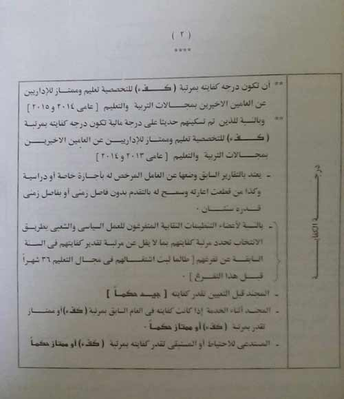شروط التقدم للأعارات بالخارج مصر 2018