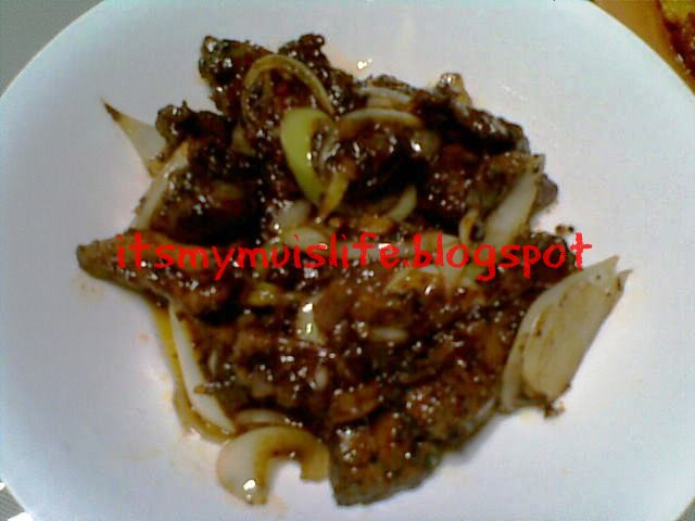 resepi mudah: daging masak lada hitam