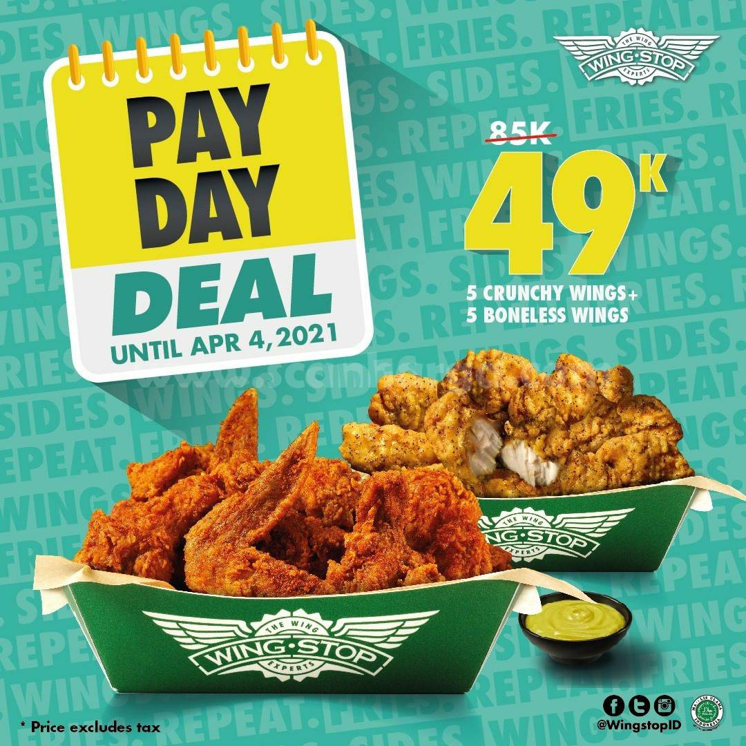 WINGSTOP Promo PAYDAY DEAL only 49K