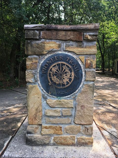 pioneer trail marker at arlington tx usa historical landmark