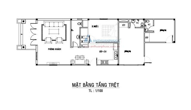 Mẫu nhà đẹp 6m quy mô 2 tầng ở TP.HCM