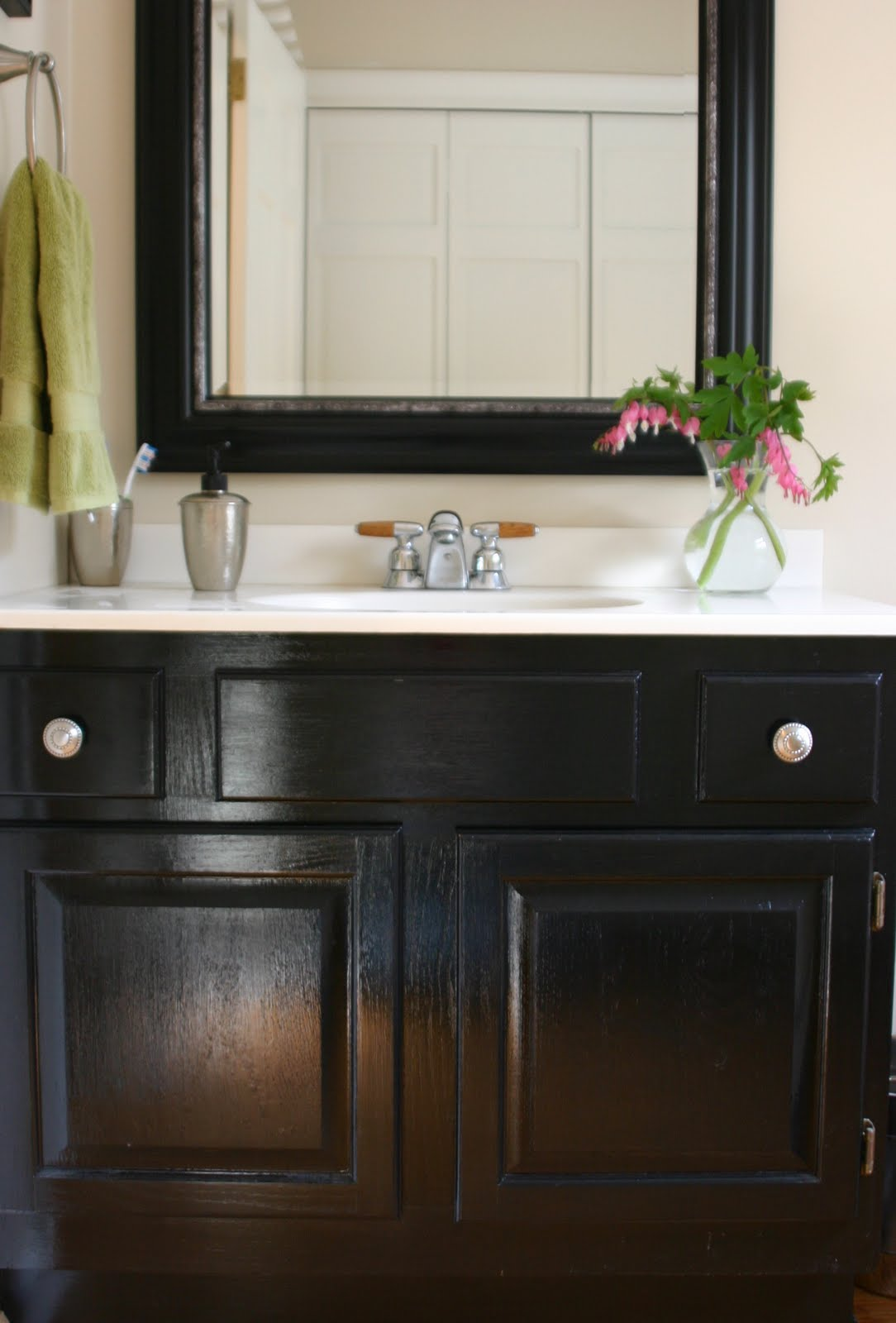 Painted Bathroom Vanity Powder Room De Peachificiation Shine Your Light