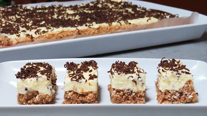 Prăjitură cu Nucă și Cremă de Vanilie