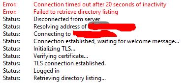 Cara Mengatasi Kendala Yang Terjadi Pada FTP Filezilla