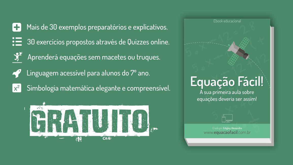 Liberado gratuitamente o e-book sobre equações do 1º grau
