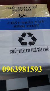 Túi đựng chất thải sinh hoạt, túi rác y tế, túi đựng rác giá rẻ