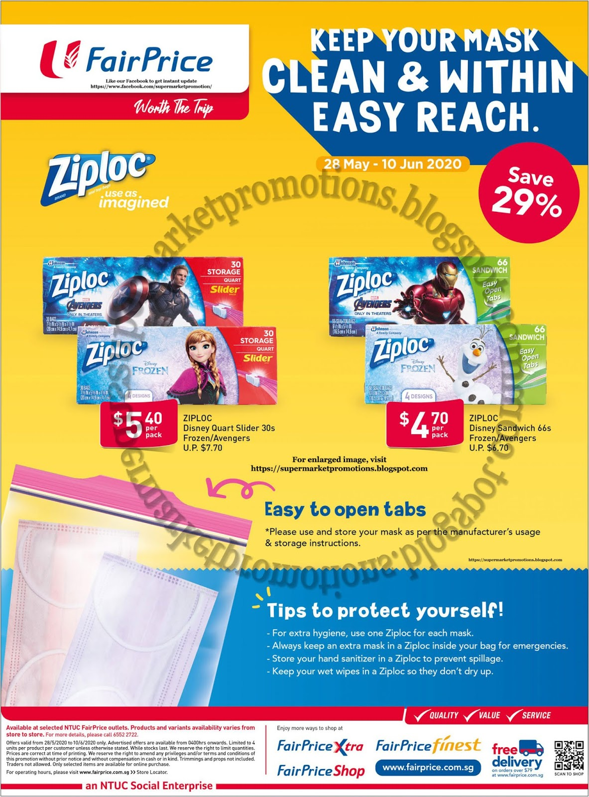Ntuc Fairprice Ziploc Promotion 28 May