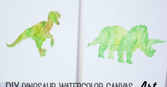 Knock It Off World Market Inspired Dinosaur Watercolor
