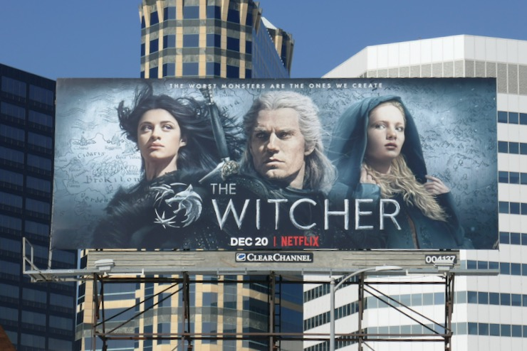 Witcher series launch billboard