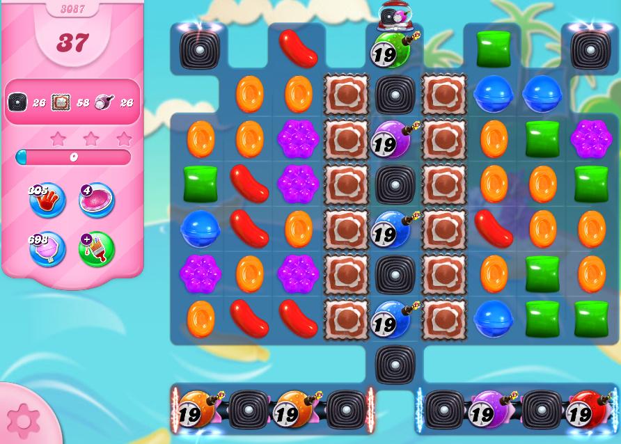 Candy Crush Saga level 3087