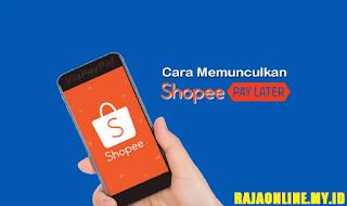 memunculkan menu Shopee Paylater di aplikasi
