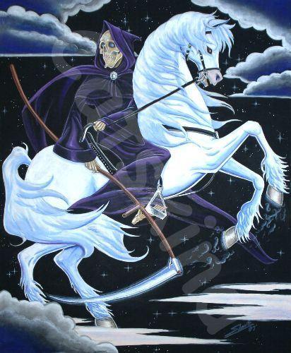Death on his horse Binky