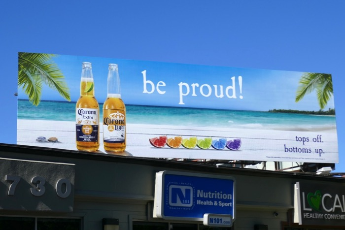 Be proud Corona beer LGBT billboard