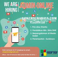 Karir Surabaya di Warna Digital Printing Agustus 2020