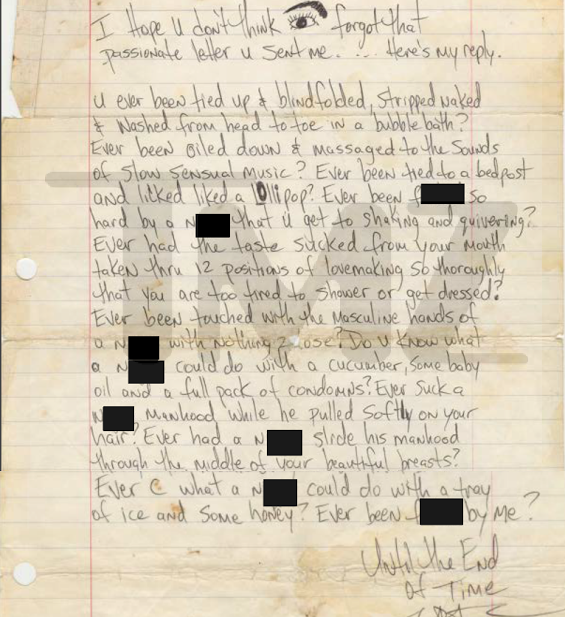 Glow M AT Tupac Explicit Racy Love Letter To Be Sold For $25K