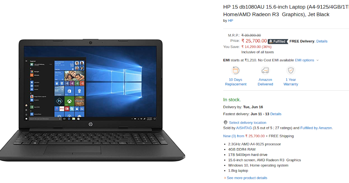 Hp 15 Db1080au Laptop Launched In India Price Specs