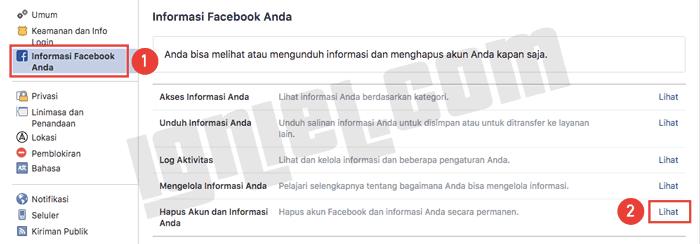 Cara Hapus Akun Pribadi Facebook Secara Permanen