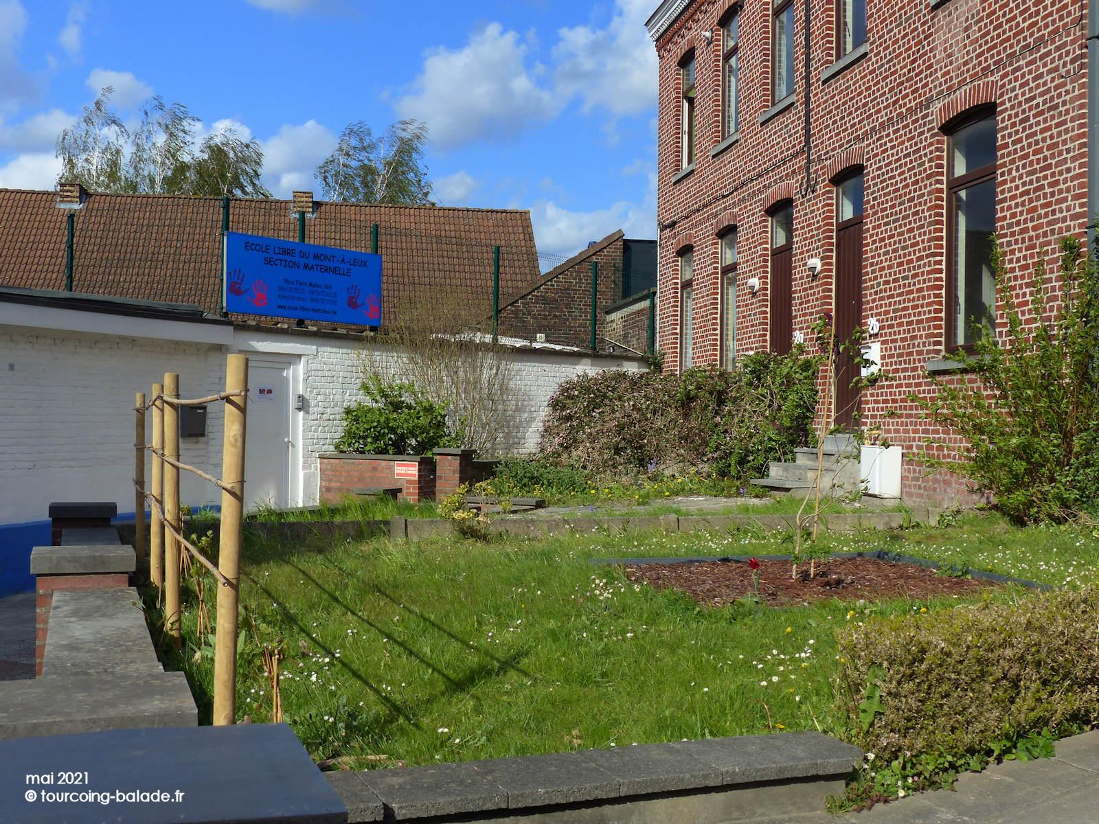 École maternelle libre du Mont-à-Leux, Mouscron, Belgique, en 2021