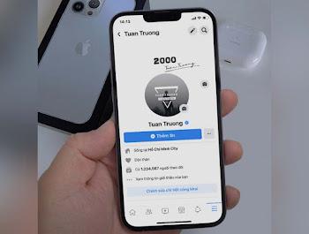 Ghép ảnh tường facebook vào Iphone 13 pro max sống ảo