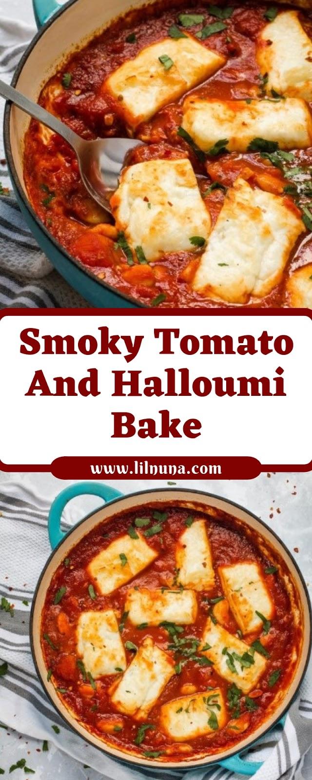 Smoky Tomato & Halloumi Bake