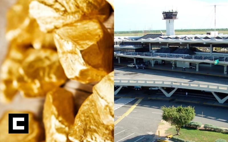 Apresan venezolano con 22 libras de oro en el AILA