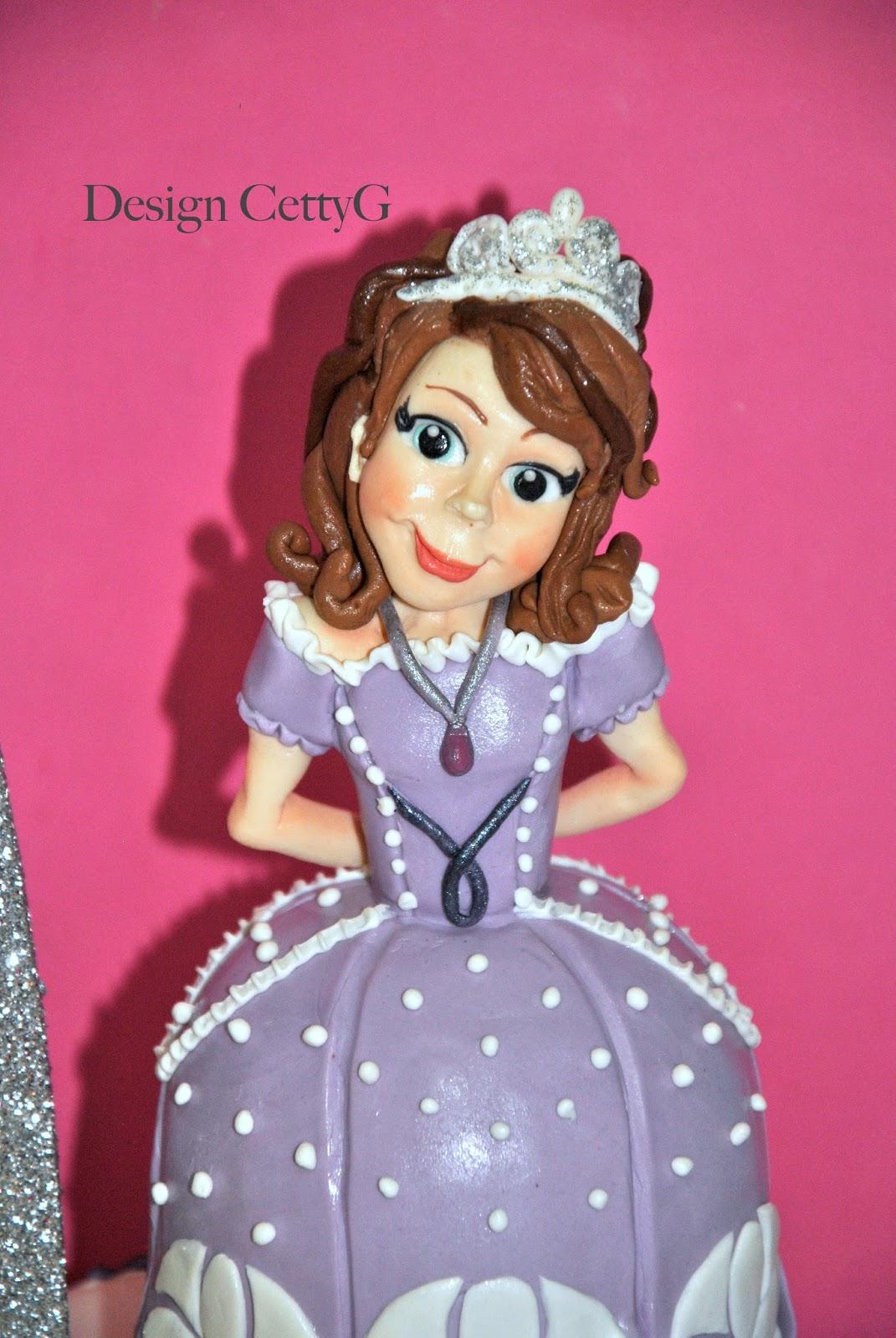 Le torte decorate di cetty g principessa sofia cake