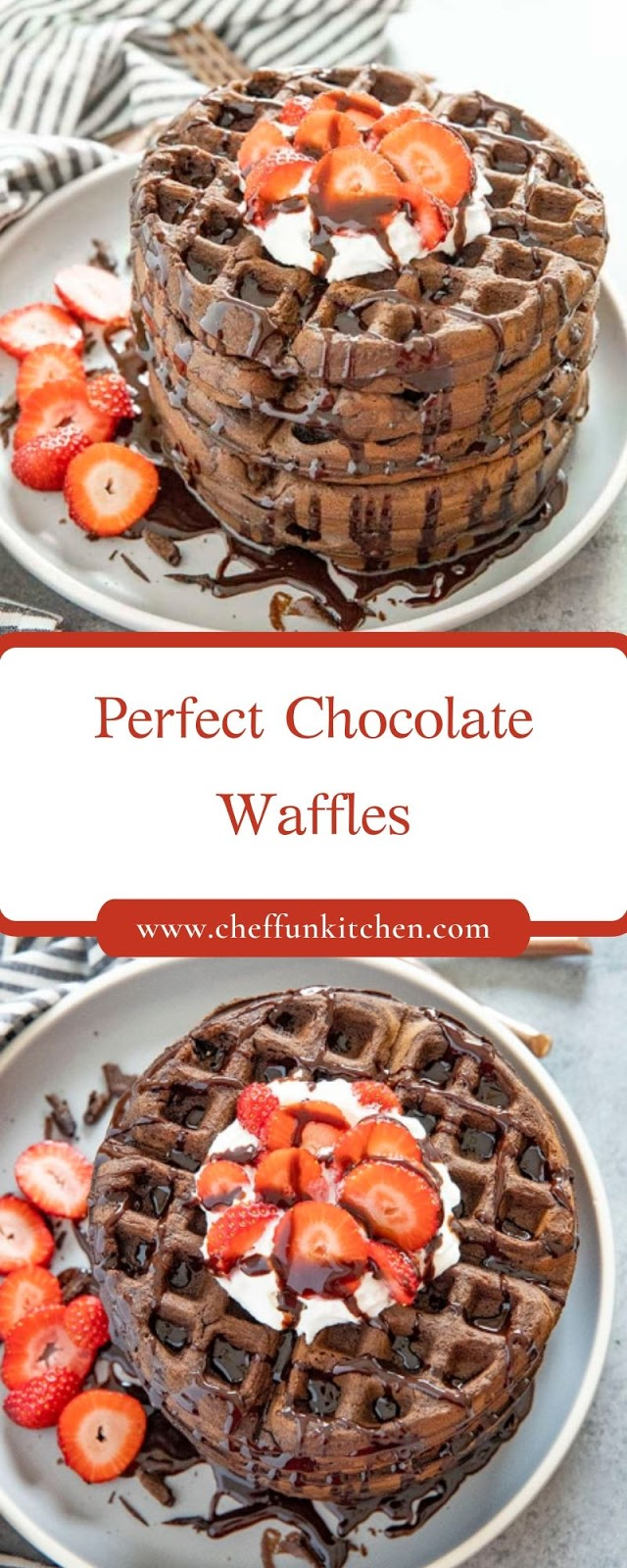 Perfect Chocolate Waffles