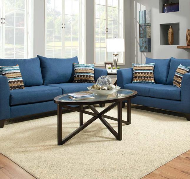 Foto Kursi Model Sofa Ruang Tamu Minimalis Elegan Biru
