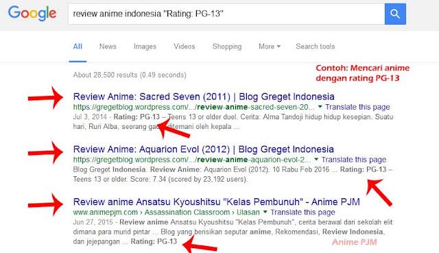 anime rating 13 tahun ke atas