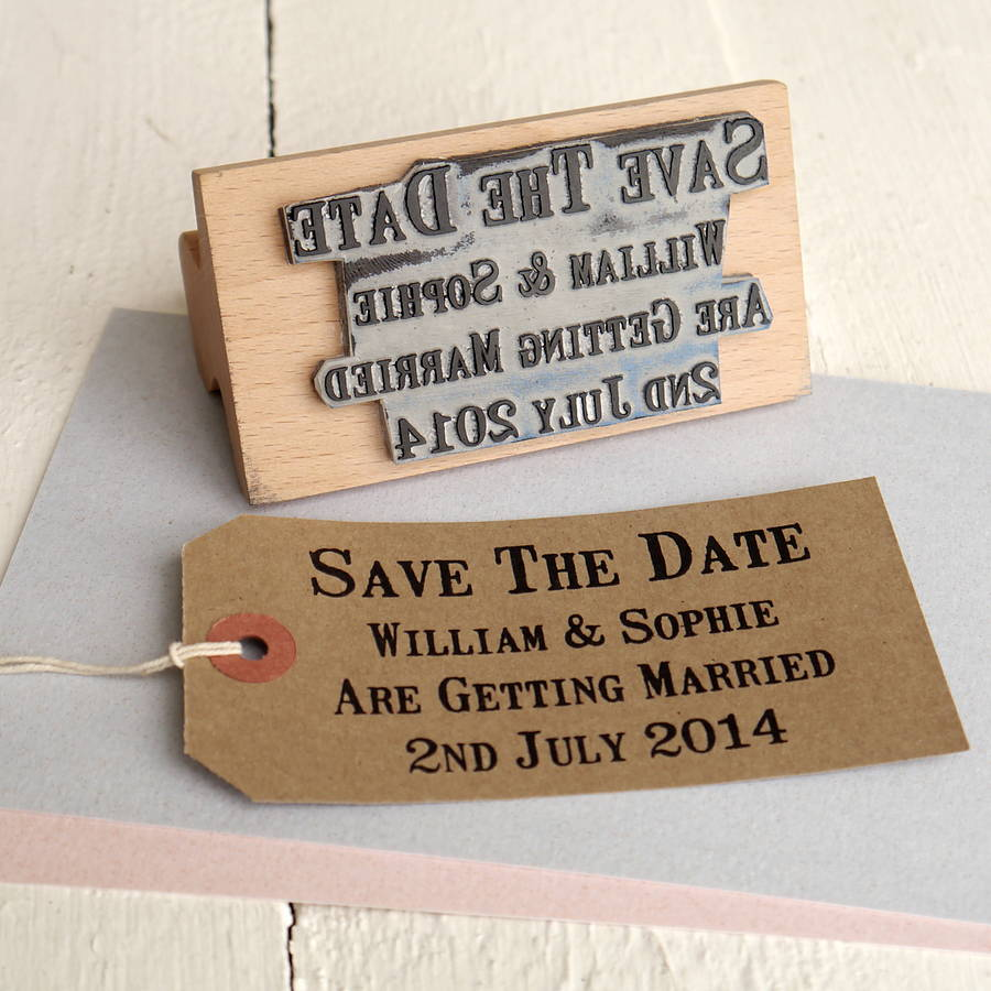 personalised wedding stamps for your big day