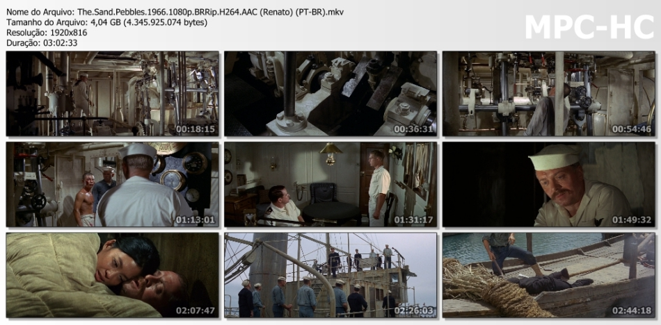 O CANHONEIRO DO YANG-TSÉ (DUAL ÁUDIO / 1080P) - 1966 Batch_The.Sand.Pebbles.1966.1080p.BRRip.H264.AAC%2B%2528Renato%2529%2B%2528PT-BR%2529.mkv_thumbs