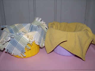 Cloth napkins are a budget friendly Easter basket lining.