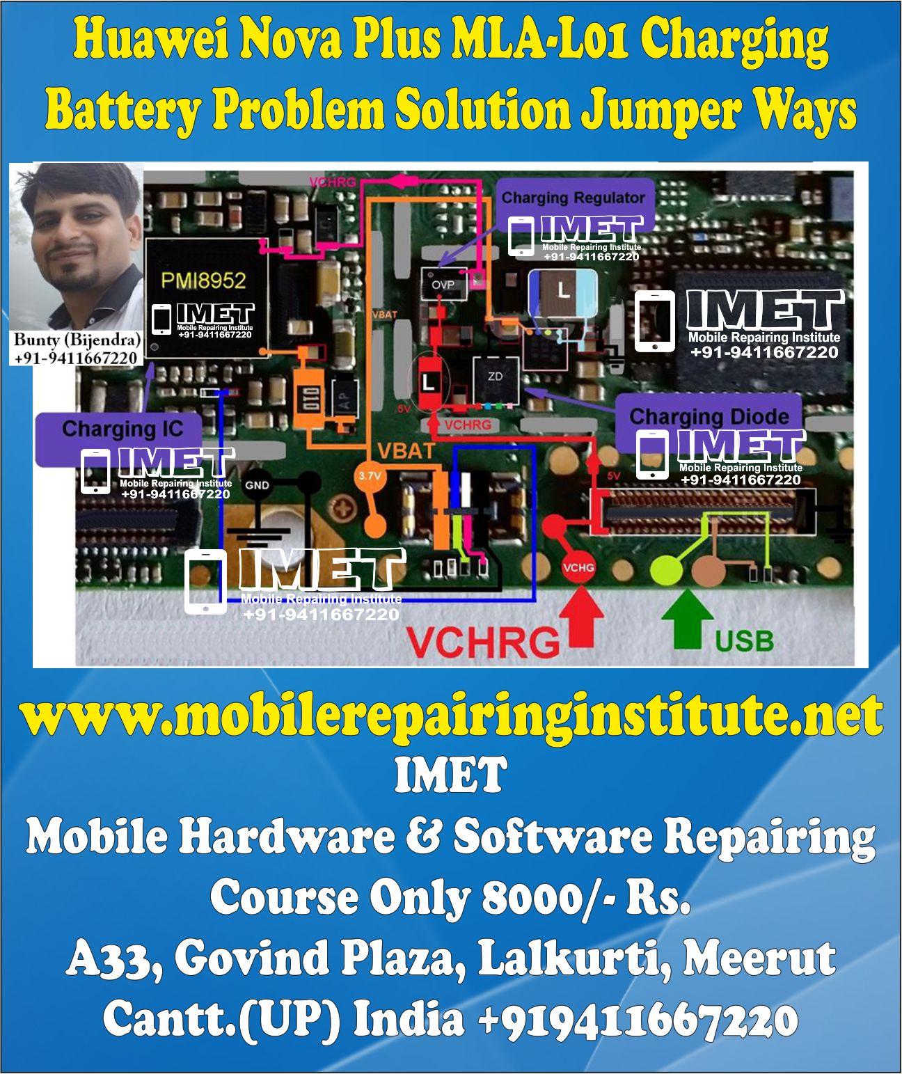 Huawei Nova Plus MLA-L01 Charging Battery Problem Solution Jumper Ways