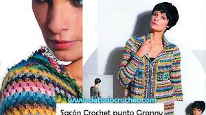 Cómo Tejer un Sacón Crochet Punto Granny / Paso a paso