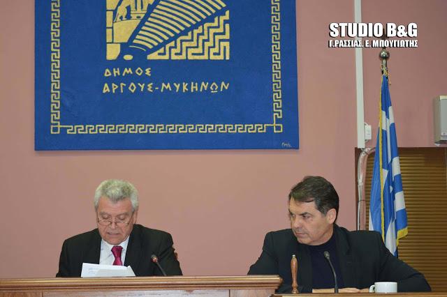 Δημοτικό Συμβούλιο στο Άργος και έγκριση προϋπολογισμού στο Άργος