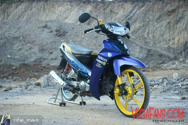 Modifikasi Vega R New Biru Modif Standar Velg Racing