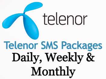 Telenor SMS Packages Daily, 3-Days, 15-Days, Weekly and Monthly
