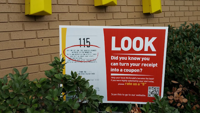McDonald's QR Code turns your receipt into a coupon.